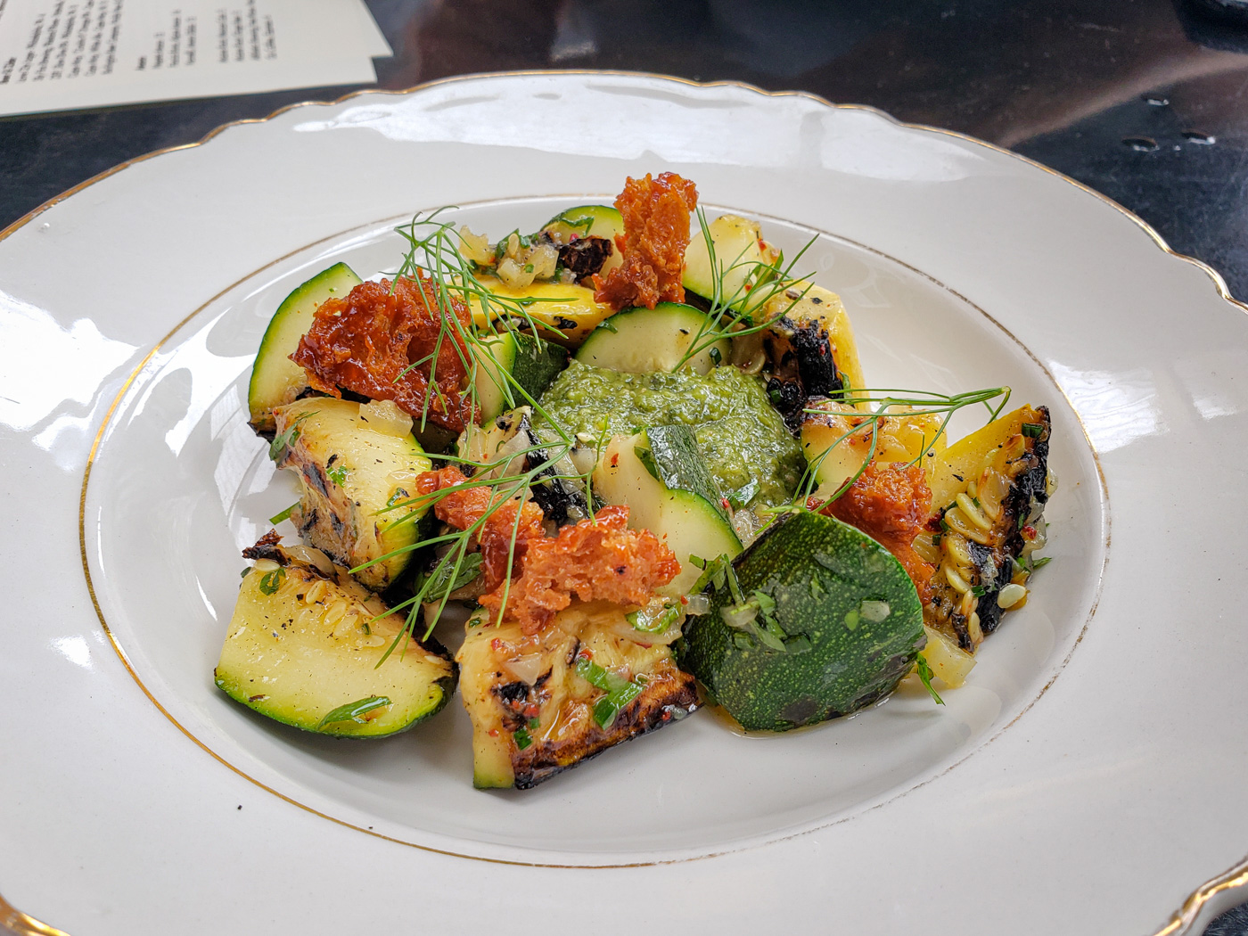 Grilled Zucchini at Sally