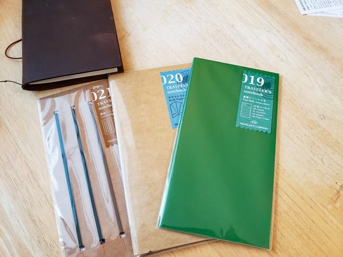 Traveler's Notebook Bands and Inserts