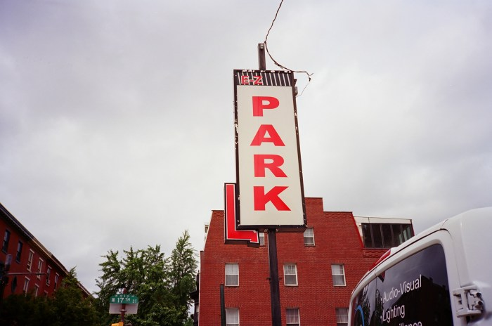 Red Park Sign