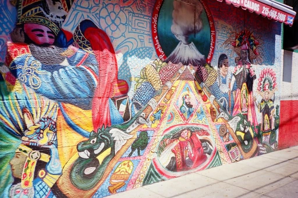 Mural at Tamalex Restaurant