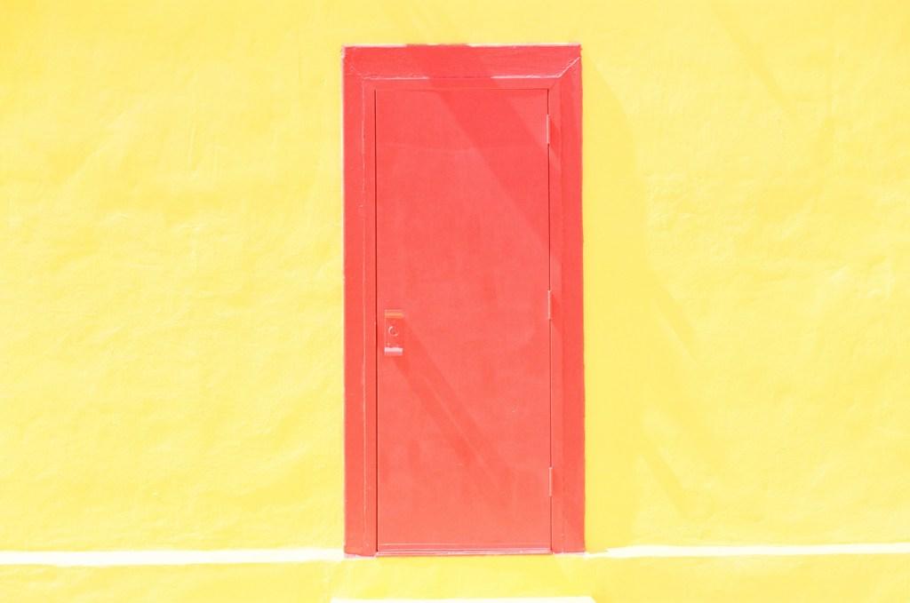 Red Door Yellow Wall