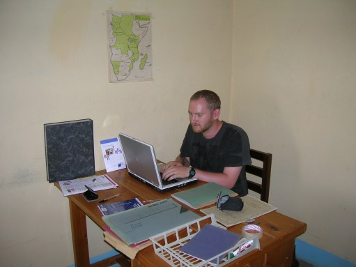 this dad does working in east africa