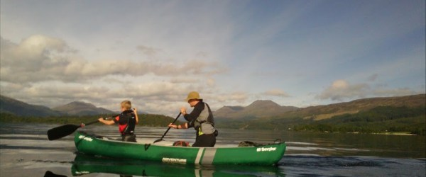tom gold canoe this dad does loch lomond