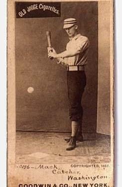 1886– At Washington'sCapitol Park, backstopConnie Mackmakes his major league debut as theNationalsedgePhiladelphia, 4 – 3.