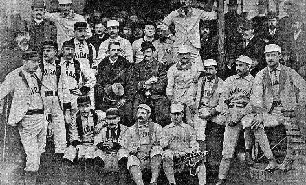 """The All America team beatsChicago, 7 – 6, inEngland's Old Trafford Cricket Stadium. TheManchester Guardiansays: the """"general verdict of the more than 1,000 spectators was that the American game was 'slow' and 'wanting in variety.'"""""""