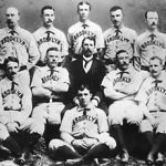 The Brooklyn Bridegrooms, who will later be known as the Dodgers, play their first National League game