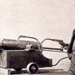The first pitching machine