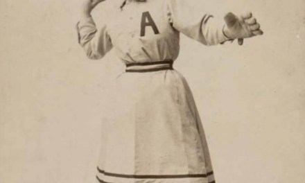 Lizzie (Stroud) Arlington becomes the first woman to play in organized baseball as she pitches for Reading in the Eastern League