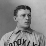 Matching Buck Freeman's feat of five weeks ago, Brooklyn's Bill Dahlen laces two triples in the 8th inning as his team beats Philadelphia, 14 - 3.