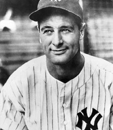 Lou Gehrig is born in New York City