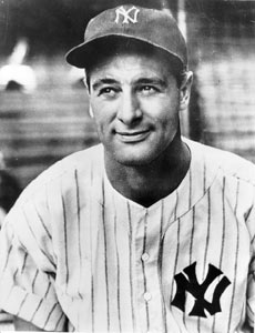 Lou Gehrig gains election to the Hall of Fame