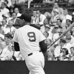 """Ted Williams, held hitless for three straight games, blasts a pair of towering home runs as theRed SoxoverpowerCleveland, 11 - 8. TheAssociated Pressreports: """"Williams leaned into afastballby rookie fireballerHerb Scorefor a 450-foot drive into the dead centerfield bleachers in the 5th inning to end a hitless string at ten official times at bat. In the 8th inning, he connected again for a 430-foot drive into the right field stands off the veteranBob Feller."""""""