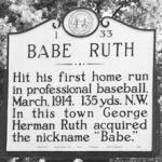 Babe Ruth hits his first professional home run, a 400 foot shot at the Cape Fear Fairgrounds in Fayetteville
