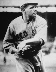 Babe Ruth makes his major league debut with the Boston Red Sox against the Cleveland Naps