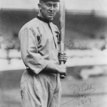 At Detroit, Ty Cobb is 3 for 4 to lead the Tigers to a 5 - 1 win over the Red Sox and lefty Babe Ruth.