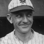 In Pittsburgh, trailing, 7 - 6, thePiratesload the bases with two outs beforeWalter Schmidtdrives a ball to deep left center.GiantsLFCasey Stengelmakes a dramatic catch on the dead run to preserve the New York win.