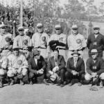 1922 - On their tour of the Far East, the Herb Hunter All-Americans, with Casey Stengel and Waite Hoyt among their members, beat a team of U.S. servicemen, 12 - 5, in Manila. In other games, the All-Americans are the first team of major leaguers to play a Chinese team, in Shanghai, and also play a Korean all-star team in Seoul, whipping them, 21 - 3. The American all-stars also lost a game in Japan when Zensuke Shimada hit an out-of-the-park home run against Hoyt and the Mita Club defeated the All-Americans, 9 - 3. Michimaro Ono got the win. It is the first loss by a team of touring U.S professionals in Japan.