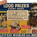 Babe Ruth, sponsored by Quaker Oats, agrees to do three 15-minute broadcasts a week overNBC