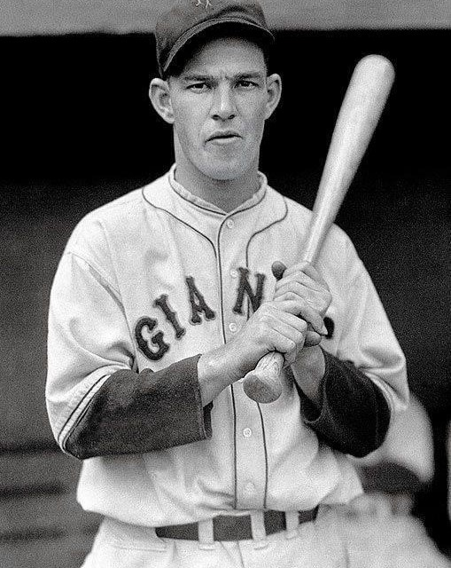 The first-place Giants score seven runs in the 3rd to crush the Cubs, 12 – 7. Mel Ott leads the way with two homers – his 16th and 17th – and drives in six runs. Jo-Jo Moore has four hits, including a homer, and Fred Fitzsimmons, who weakens in the 8th, is credited with the win. Charlie Root, who got none out in the 3rd before retiring, is the loser. The Giants now lead the Cards by five games.
