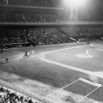 First night game in major league history is played at Crosley Field