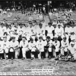 TheAmerican Leaguecontinues itsAll-Star Gamereign, winning thethird event, at Cleveland'sMunicipal Stadium, 4 - 1.Jimmie Foxxis the hitting star with a homer and three RBI. The rule that no pitcher can throw more than three innings unless the game goes intoextra inningswill be instituted afterYankeeLefty Gomezpitches six outstanding innings in the Mid-Summer Classic.