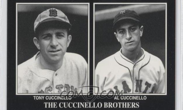 Brothers Tony and Al Cuccinello hit home runs in the same game