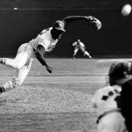 Bob Gibson of the St. Louis Cardinals pitches the first no-hitter of his career