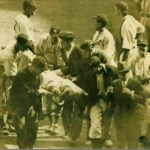 Mickey Cochrane comes to an end when he is hit in the right temple by a Bump Hadley fastball
