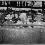 Landis assumes camera pose. Washington D.C., July 7. Kenesaw Mountain Landis, High Commissioner of baseball, assumes his characteristic pose for the cameramen as he views the 1937 all-star game in the Capitol, 7/7/37
