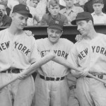 The Yankees beat the A's, 21 - 0, to equal the major-league record for lopsided shutouts. Joe DiMaggio and Babe Dahlgren each hit two home runs, one each inside-the-park. Red Ruffing collects four hits along with the victory.
