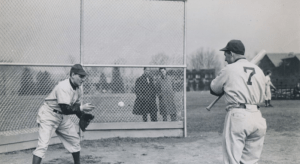 WithWorld War IItravel restrictions still in effect, theBrooklyn Dodgersopenspring trainingatBear Mountain, New York, with 15 players in camp.