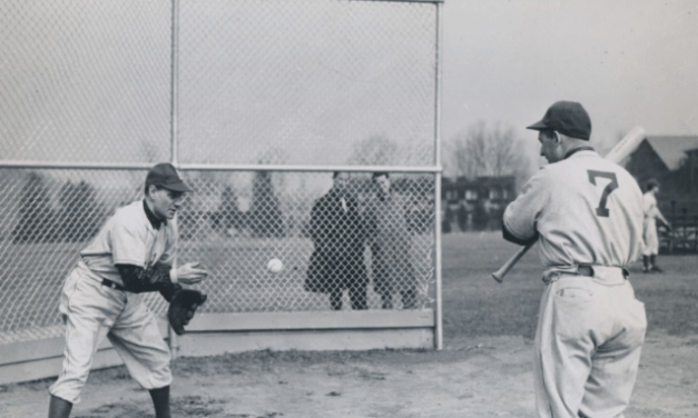 With World War II travel restrictions still in effect, the Brooklyn Dodgers open spring training at Bear Mountain, New York, with 15 players in camp.