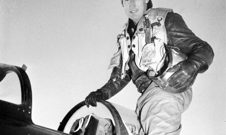 Boston Red Sox star Ted Williams receives his discharge from the U.S. Marine Air Corps