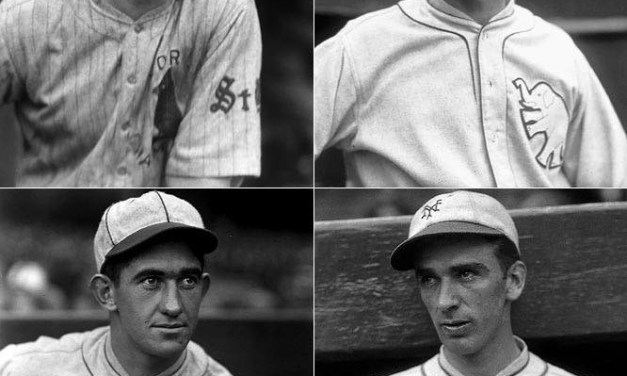 four new Hall of Fame members: catcher Mickey Cochrane, second baseman Frankie Frisch, and pitchers Lefty Grove and Carl Hubbell, all former Most Valuable Players and World Series winners