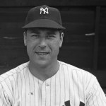 Before 66,000 fans, New York's Vic Raschi (14-4) allows four singles in stopping the Indians, 5 - 0. Joe DiMaggio has a pair of doubles, drives in three runs, and swipes home on the front end of a double steal.