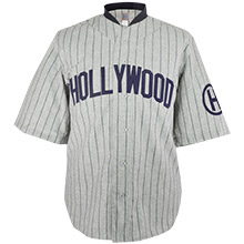 Pacific Coast League Hollywood Stars wear shorts and rayon shirts as their Opening Day uniform