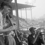 Every one who shows up with a musical instrument is admitted free to Ebbets Field. 2,426 fans take advantage of the offer, including one with a piano. The Dodgers have a motive in countering the local musicians' union which wants to silence the non-union Sym-Phoney. The Dodgers outplay the Braves, 7 - 6, as Gil Hodges belts a three-run homer in the 8th, following an intentional walk to Roy Campanella, who had homered earlier.