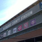 Milwaukee Braves play their 13th home game and surpass the attendance total for the previous season