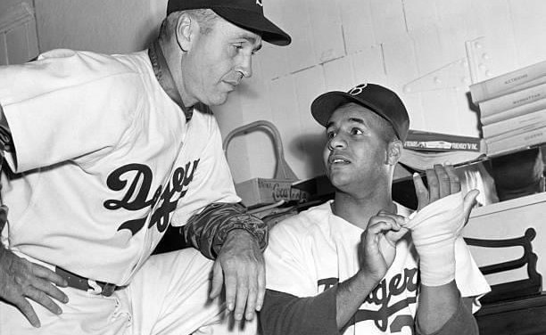 Brooklyn DodgerscatcherRoy Campanellainjures his left hand in anexhibition gameagainst theYankees. Though he will hit two home runs onOpening Day, Campanella will have surgery in early May for the bone chips,