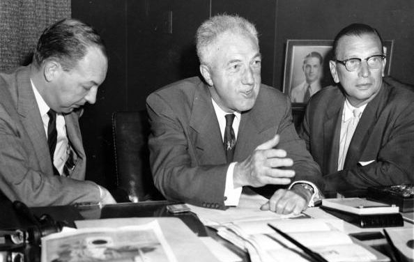 """Ford Frick announces he favors the legalization of the spitter, claiming it is """"a great pitch and one of the easiest to throw."""" The Commissioner believes there is nothing dangerous about the banned pitch, and making it legal again would slow down baseball's increasing offensive statistics."""