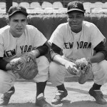 Elston Howard, who will be named the American League's MVP in 1963, becomes the first black to play for the Yankees. The former Monarchs' catcher will appear in nine All-Star Games and 54 World Series games, compiling a .274 batting average during his 14-year playing career.
