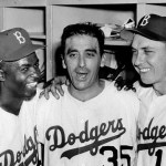 Game 1 1956 World Series Sal Maglie and the Brooklyn Dodgers defeat the Yankees, 6 - 3