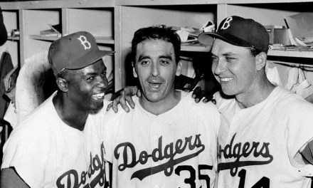 Game 1 1956 World Series Sal Maglie and the Brooklyn Dodgers defeat the Yankees, 6 – 3