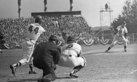 Eddie Mathews' hits walk off homerun in game 4 of world series