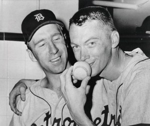 During the first game of a doubleheader, Tiger right-hander Jim Bunning no-hits the Red Sox, 3-0. The future Hall of Famer and U.S. Senator will become the first modern-day pitcher to toss a hitless game in both leagues when he throws a perfect game against the Mets in 1964, and once again Mets broadcaster Bob Murphy will be behind the microphone doing the play-by-play, as he is today for Boston.