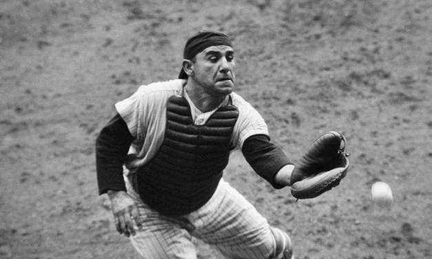 Yogi Berracommits anerroras his errorless streak of 148 games for acatchercomes to an end in aNew York7 – 6 loss toCleveland
