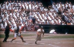 July 7, 1959 Forbes Field 1st All Star Game Eddie homers off AL starter Early Wynn in the bottom of the first inning. The NL beat the AL 5-4. Mathews, Aaron and Crandall were all starters in this powerful NL lineup!