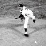 "Bo"" Belinsky of the Los Angeles Angels fires a no-hitter"