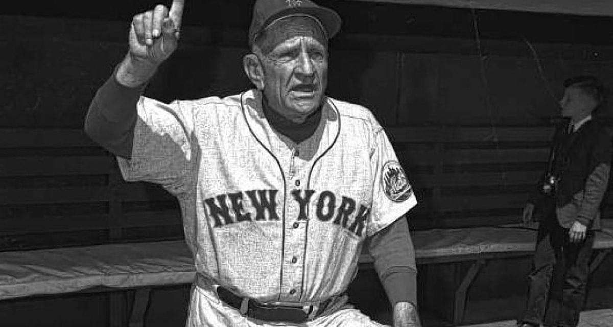 Casey Stengel records his 3,000th victory as a manager as the Mets beat the Giants, 7 – 6.