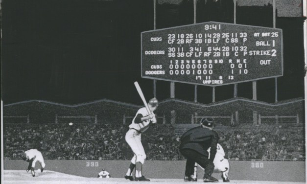 Sandy Koufax fires a perfect game